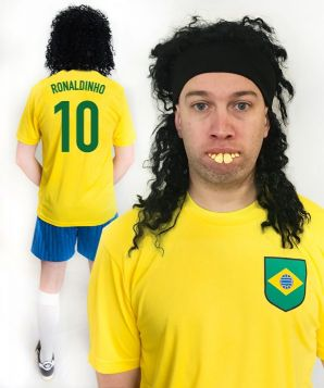 Ronaldinho Brazil World Cup Football Fancy Dress Costume